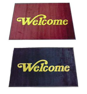 Floor mats with Welcome word